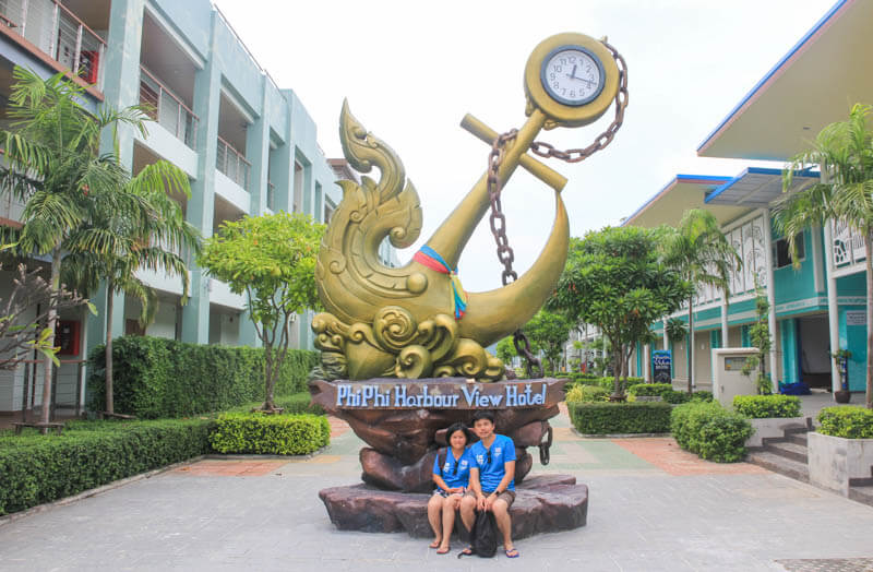 Phi Phi Harbour View Hotel sign