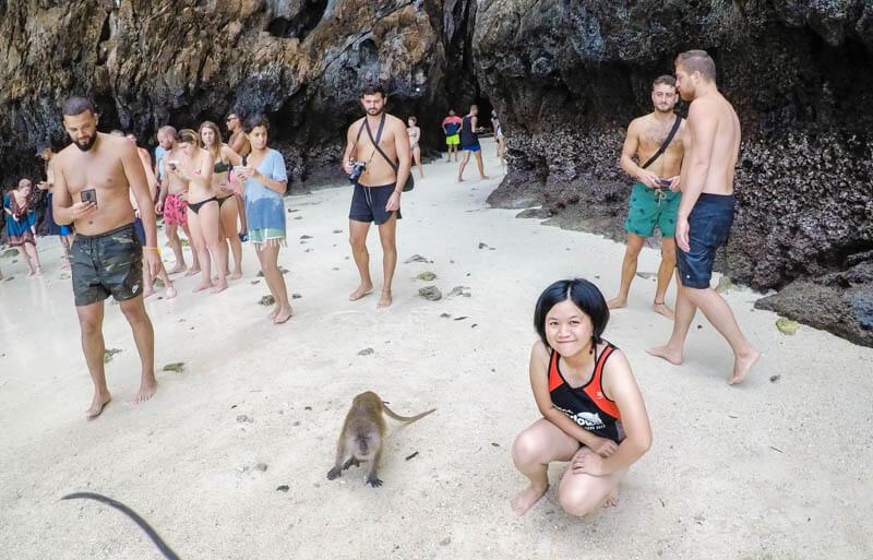 Monkey Beach - Phi Phi Le - phi phi island snorkelling tour