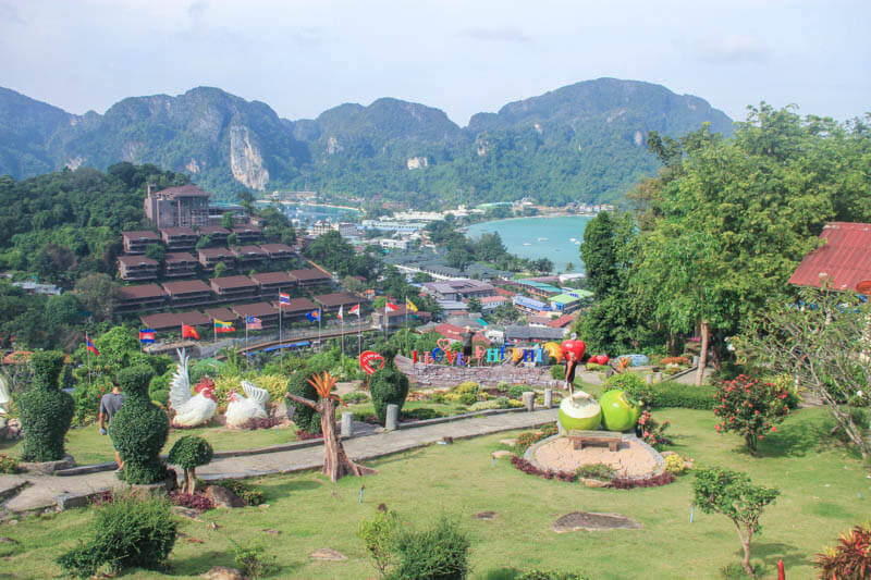 At Phi Phi Viewpoint 1 - 24 Hours Itinerary in Phi Phi Islands
