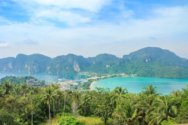 At Phi Phi Viewpoint 2 - 24 Hours Itinerary in Phi Phi Islands