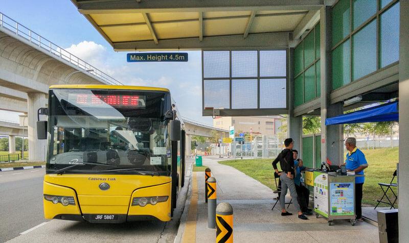 Bus CW7 from Tuas Link Singapore to Johor Bahru