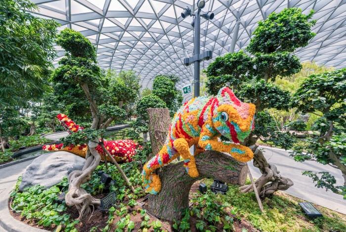 Jewel Changi Airport - Canopy Park - Topiary Walk