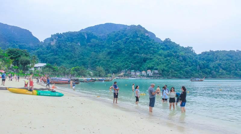 Phi Phi Islands Beaches Loh Dalum Tonsai Bay Long Beach: 24 Hours Itinerary In Phi Phi Islands