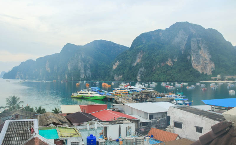 Our view at Phi Phi Hotel - 24 Hours Itinerary in Phi Phi Islands