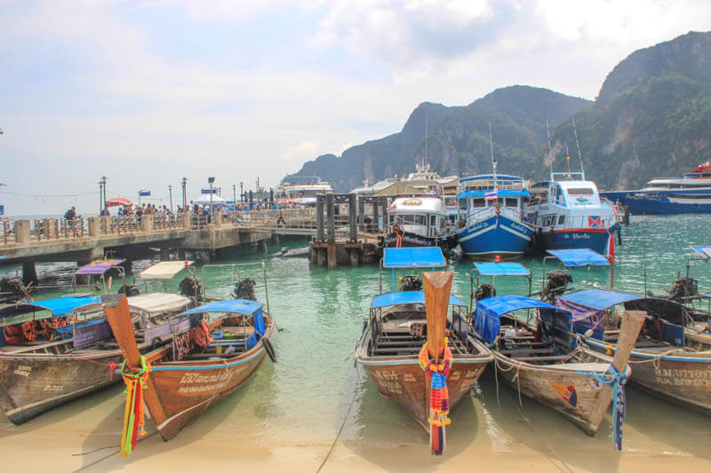 Tonsai Pier at Koh Phi Phi - 24 Hours Itinerary in Phi Phi Islands