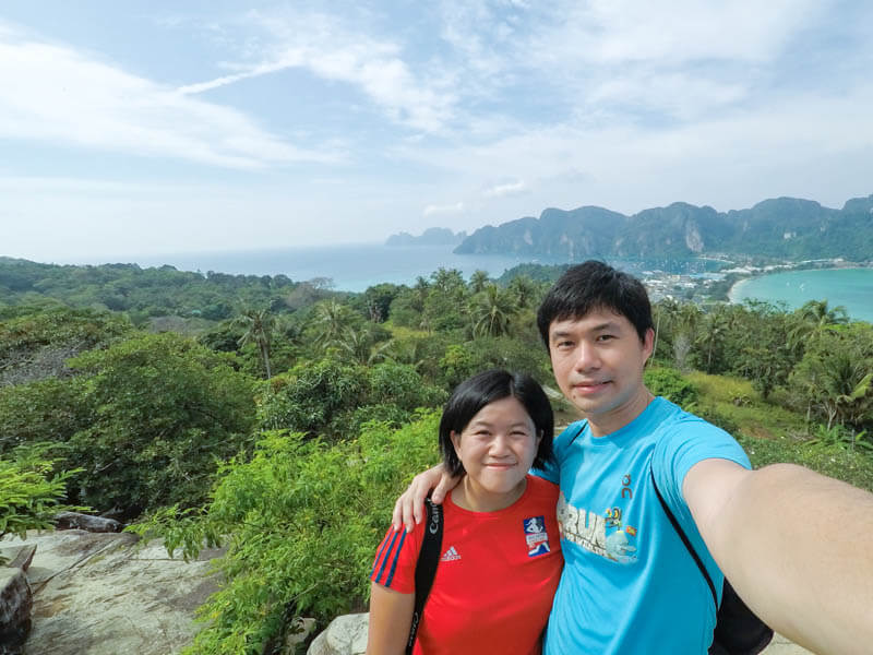Us at Phi Phi Viewpoint 2 - 24 Hours Itinerary in Phi Phi Islands