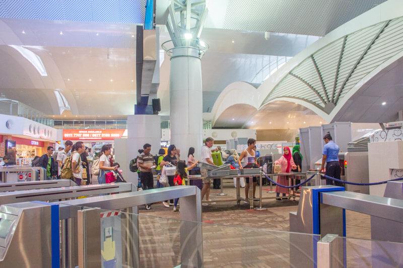 Kualanamu Medan Airport - Departure Gate Scan