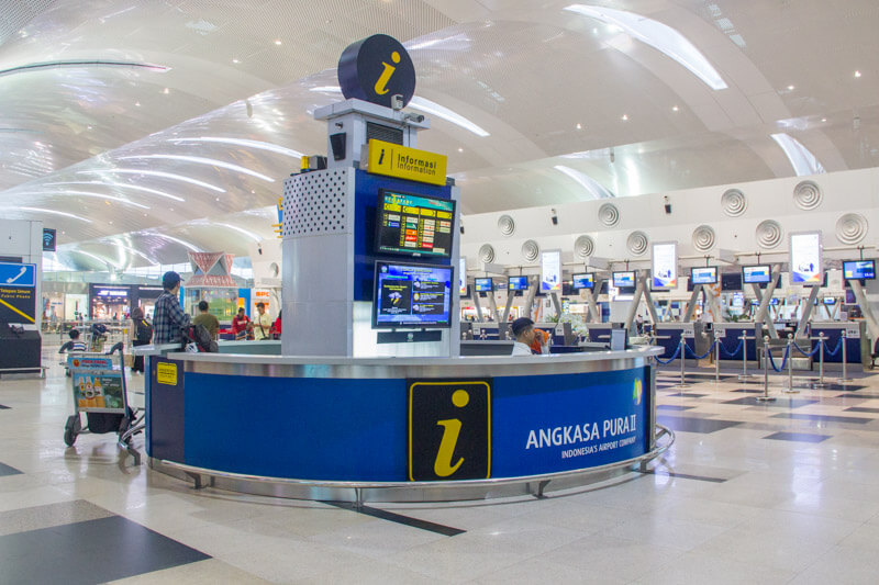 Kualanamu Medan Airport Facilities - Information Counter