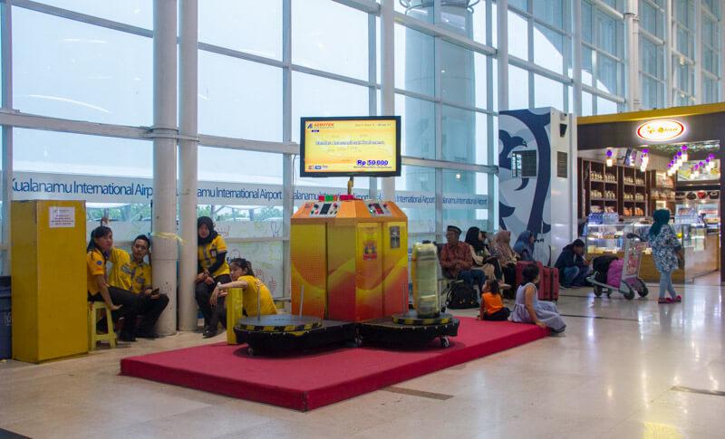 Kualanamu Medan Airport Facilities - Wrapping service