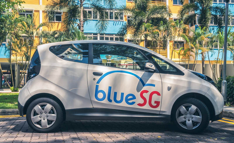 Getting Around Singapore with car sharing - BlueSG