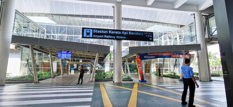 Kualanamu to Medan with Airport Railink Train