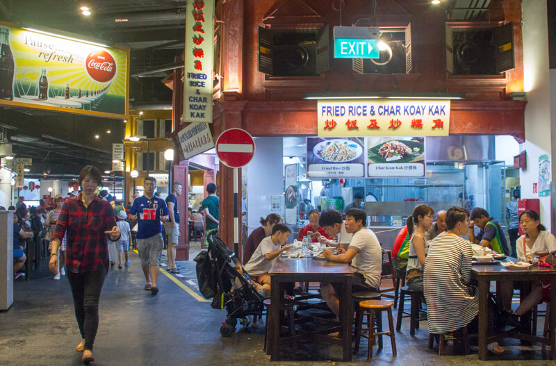 Eating in Sentosa - Malaysian Food Street