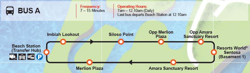 Sentosa Bus A Route