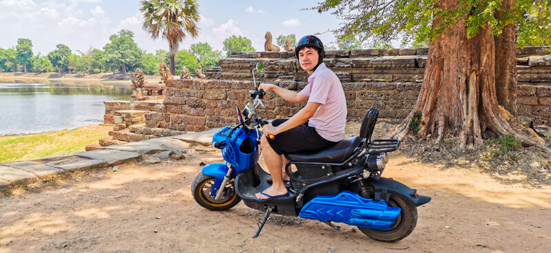 Blue Electric Bike, Siem Reap