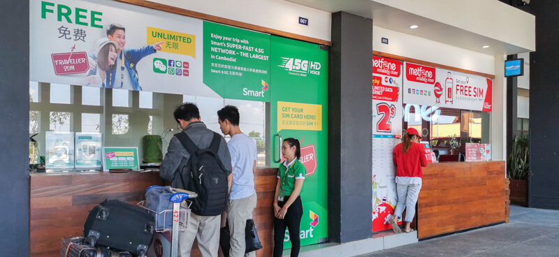 Arriving at Siem Reap Airport - SIM Card (1)