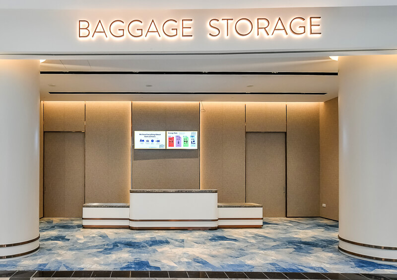 Jewel Baggage Storage - Changi Airport