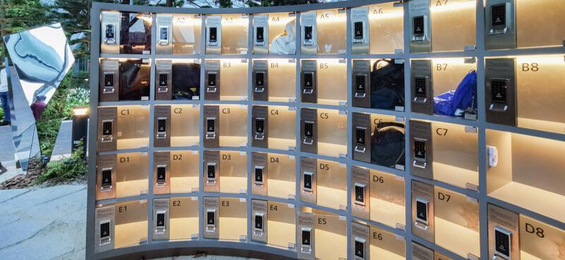 Lockers - Jewel Canopy Park at Changi Airport Singapore