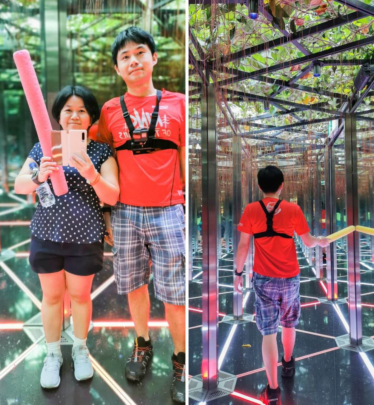 Mirrow Maze - Jewel Canopy Park at Changi Airport Singapore