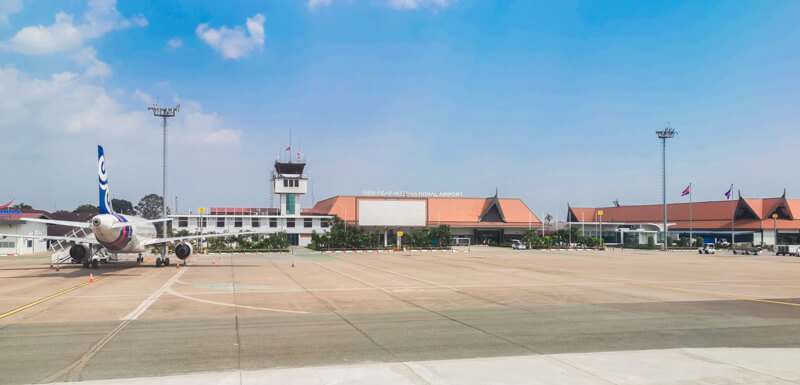 Siem Reap International Airport - runway and terminal building