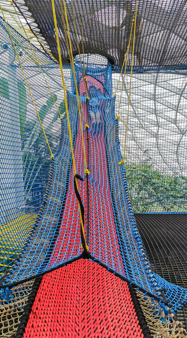 Sky Nets Bouncing - Jewel Canopy Park at Changi Airport Singapore
