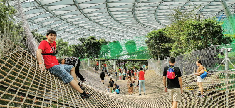 Sky Nets Walking - Jewel Canopy Park at Changi Airport Singapore