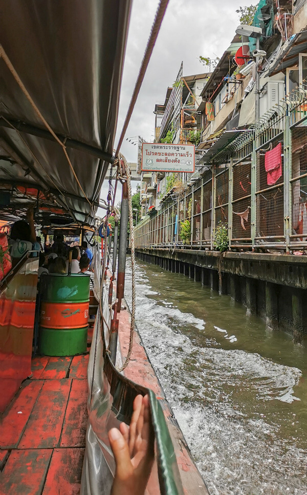 Bangkok local canal boat Khlong Saen Saep