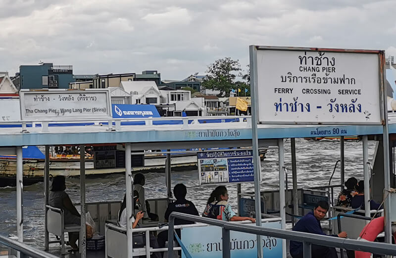 Bangkok river crossing ferry