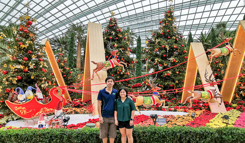 Christmas in Singapore - Flower Dome Gardens by the Bay