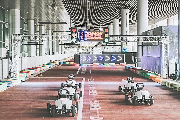 Christmas in Singapore 2020 - Changi Airport - Dino Kart