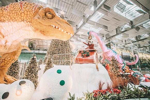 Christmas in Singapore 2020 - Changi Airport - Dino Wanderland