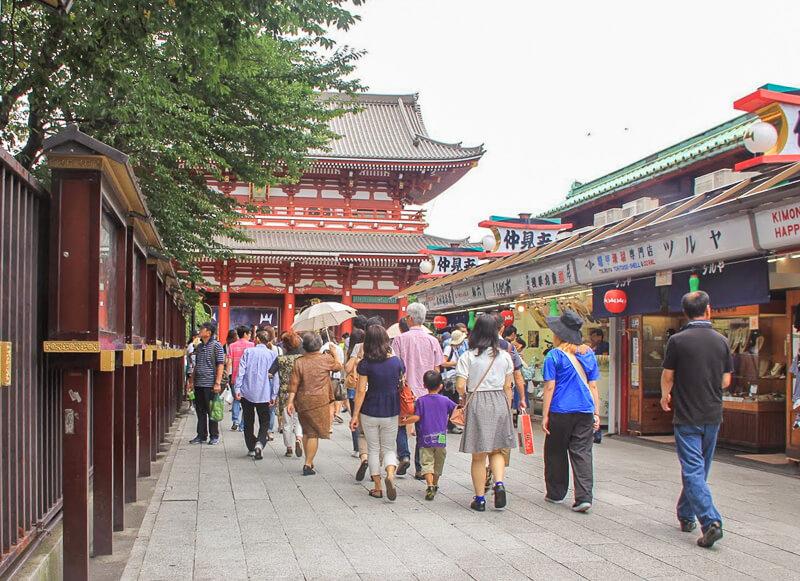 Nakamise Road near Sensoji Temple at Tokyo Japan