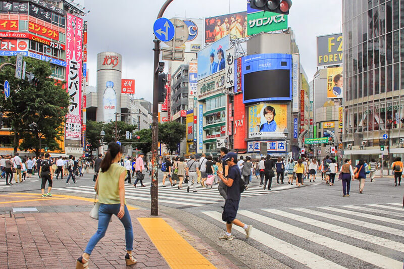 Busy Shibuya crossing, Tokyo, Japan
