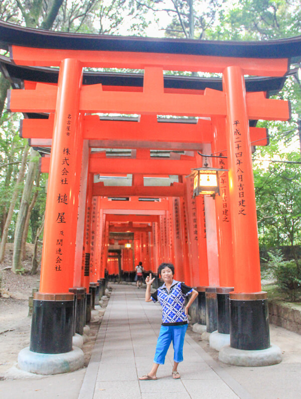 torii gate in Fushimi Inari Shrine