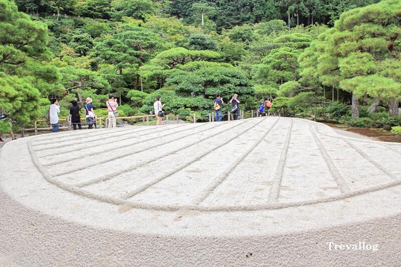 The sand garden at Ginkakuji Temple
