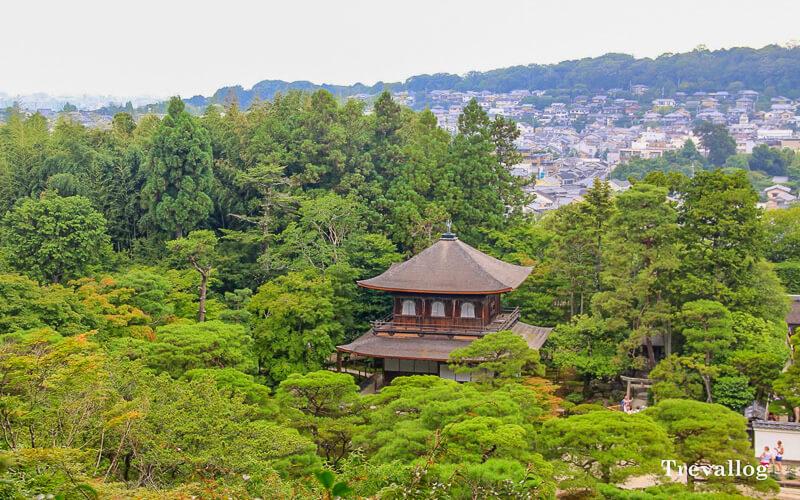 Top of Ginkakuji temple