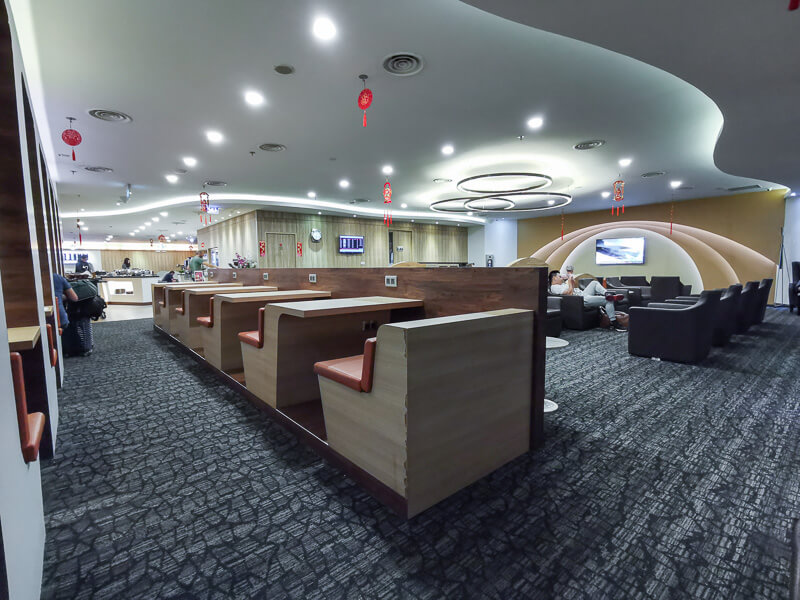SATS Premier Lounge at Terminal 1 Changi Airport Singapore - for working