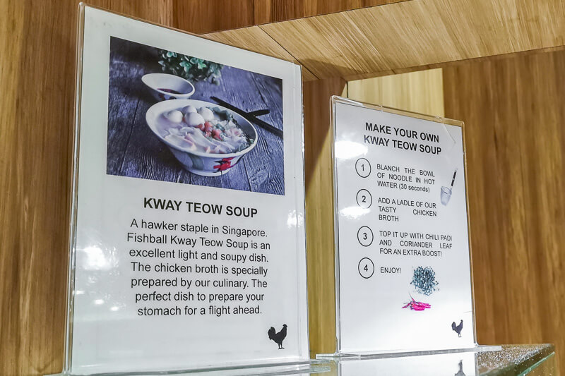 SATS Premier Lounge at Terminal 1 Changi Airport Singapore Food - Kway Teow Soup DIY station