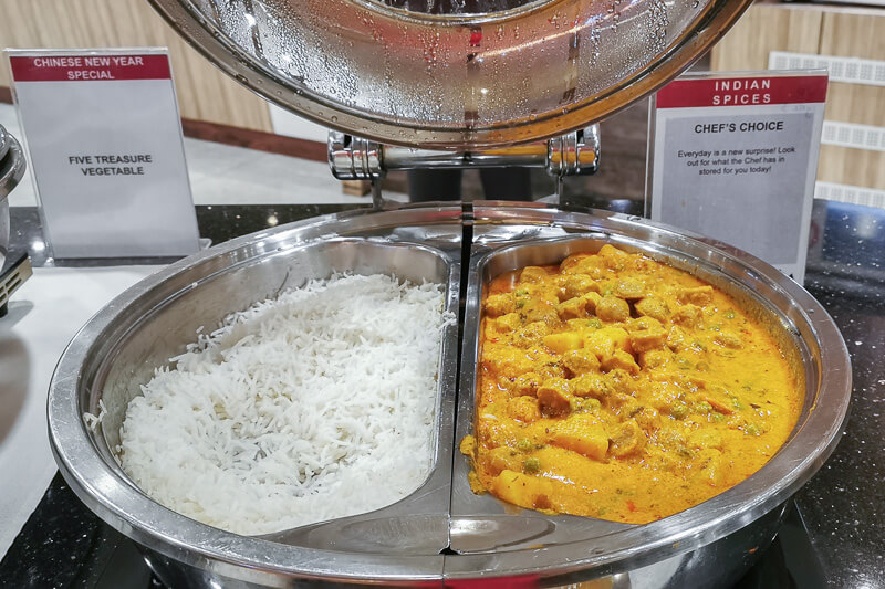 SATS Premier Lounge at Terminal 1 Changi Airport Singapore Food - Indian Curry and rice