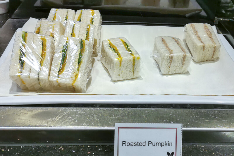 SATS Premier Lounge at Terminal 1 Changi Airport Singapore Food - Pumpkin Sandwich