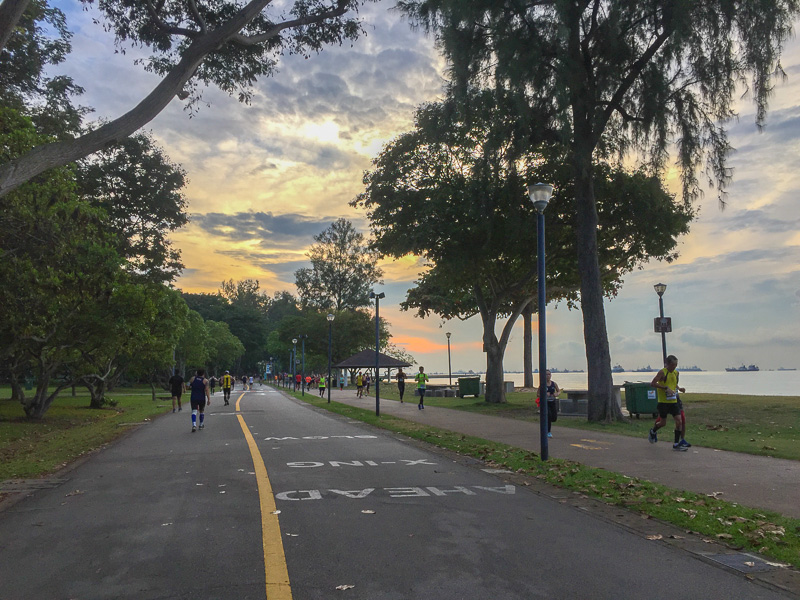 Running at East Coast Park, Singapore