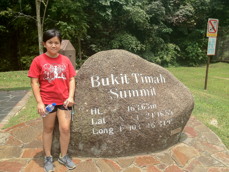 Running at Bukit Timah Hill, Singapore