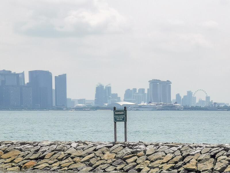 Kusu Island Singapore - things to do - singapore skyline seen from kusu island