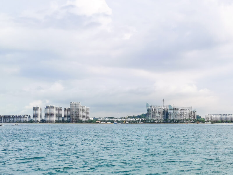 Sentosa Cove - view from ferry going to southern islands singapore
