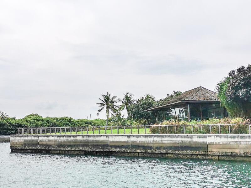 Seringat Island Singapore - toilet near pier