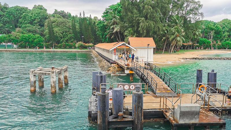 St John Island Singapore - pier