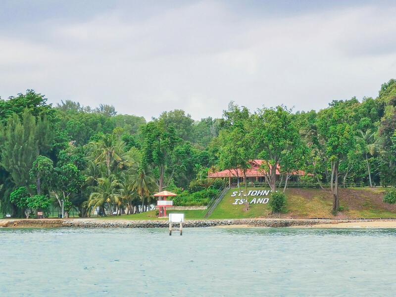 St John Island Singapore - seen from ferry