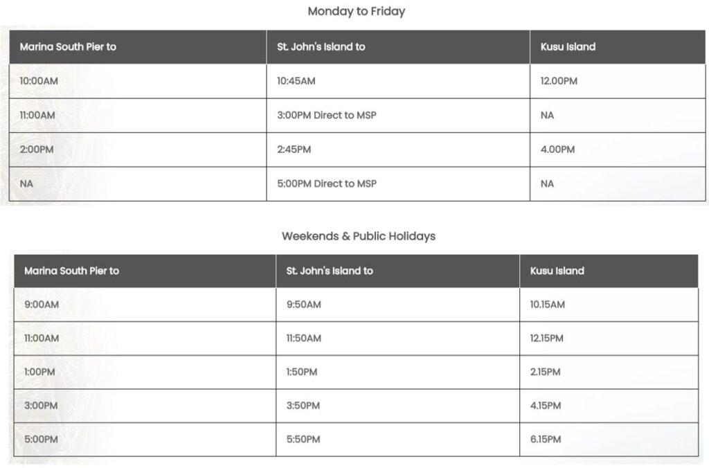 island cruise ferry schedule
