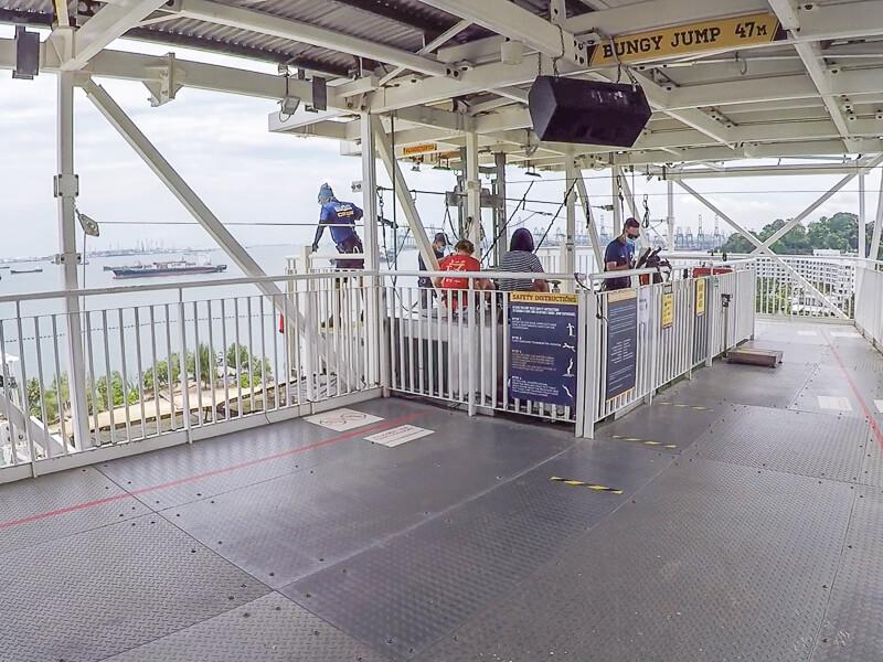 AJ Hackett Sentosa Singapore - Bungy jump area