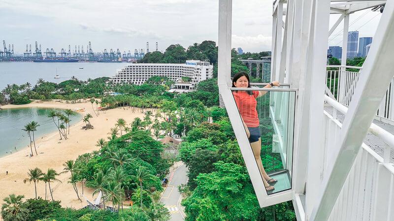 AJ Hackett Skybridge Sentosa Singapore - Glass Cube
