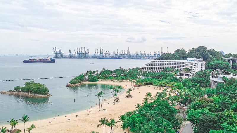 AJ Hackett Skybridge Sentosa Singapore -Shang ri la Rasa Sentosa